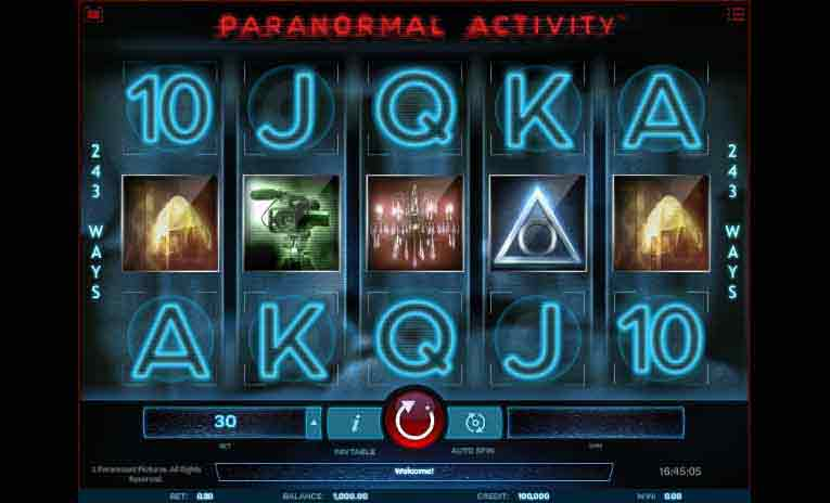 paeanormal activity slot