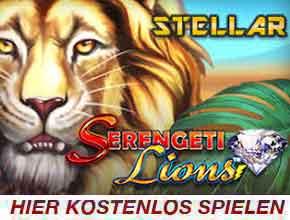 Serengenti lions stellar jackpot slot