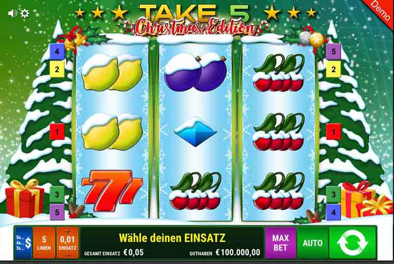 Take 5 Christmas Edition Slot