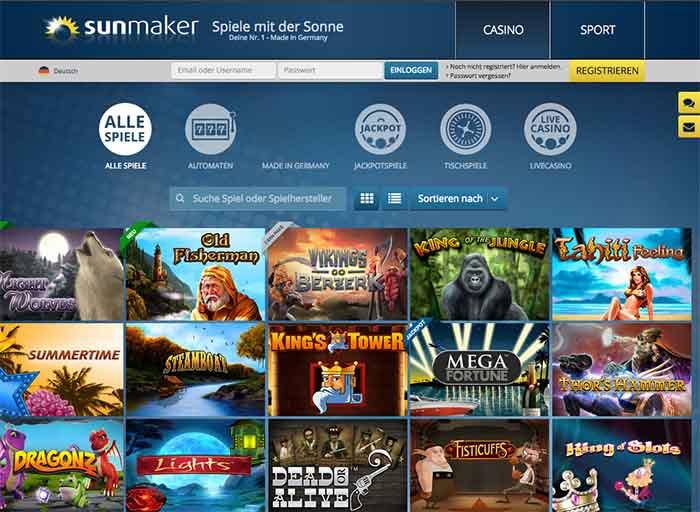 sunmaker online casino slot casino spiele gratis