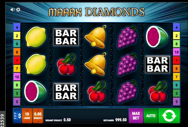 maax diamonds slot
